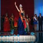"""Andrea Santana Ceseña, estudiante de Comercio Exterior de la UABCS, obtuvo el título """"Miss Continente 2012"""", en el certamen celebrado recientemente en Arequipa, Perú."""
