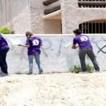 Se está tratando de avanzar para poder llegar a algunas colonias, y donde se está poniendo mayor énfasis es en el tema del grafiti, para que se pueda ir eliminando, sobre todo de los principales centros de recreación, como son las canchas deportivas y parques públicos.