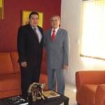 El M. en C. Gustavo Rodolfo Cruz Chávez, Rector de la UABCS, con el Ing. Luis Eduardo Zedillo Ponce de León, Director General del Consejo para la Acreditación de la Educación Superior.