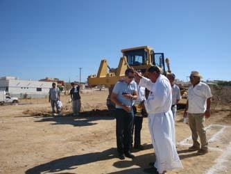 """Inician trabajos para  construir templo """"del Buen Pastor"""" en Los Cangrejos"""