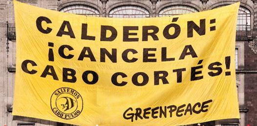 Enviaron ambientalistas al presidente Calderón más de 200 mil firmas contra Cabo Cortés