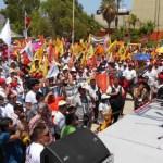 Andrés Manuel López Obrador sostuvo que el evento en el Parque Revolución ha sido uno de los más emotivos de la campaña y agradeció que a pesar del clima las personas hayan estado presentes, en un acto cercano al sacrificio.