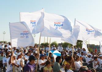 Cierra Pancho Pelayo campaña en La Paz