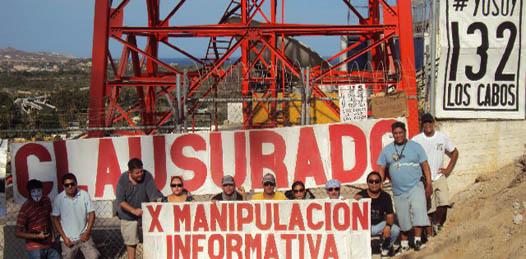 """""""Clausura"""" #YoSoy132 Los Cabos las antenas de Televisa"""