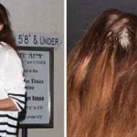 La actriz Lindsay Lohan fue captada por los paparazzi al salir de un restaurante, donde se le puede ver desaliñada, sin maquillaje y con problemas de calvicie.