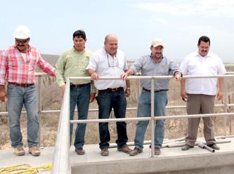 Supervisa alcalde avances de la planta de tratamiento en Los Cangrejos