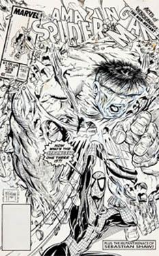 """La portada fue uno de varios lotes por Heritage Auctions en el remate que también incluyó la portada de McFarlane para """"Spider-Man"""" No. 1, la cual facturó 358 mil 500 dólares."""