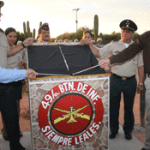 Marcos Covarrubias al inaugurar la segunda etapa de las instalaciones militares de Mesa Colorada