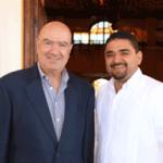 El Presidente Municipal de Loreto, Jorge Alberto Avilés Pérez y el Secretario de Medio Ambiente y Recursos Naturales, Juan José Guerra Abud.