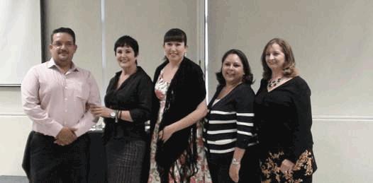 El foro estuvo integrado por la diputada Edith Aguilar Villavicencio, la directora del Instituto Sudcaliforniano de las Mujeres, Zulema Cota Gabilondo y la académica sudcaliforniana Blanca Olivia Peña Molina.