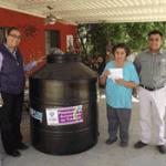 El Ayuntamiento de La Paz extiende el Programa de Suministro de Tinacos a la delegación de San Antonio.