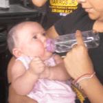Una vez en manos de paramédicos, la beba fue tranquilizada.