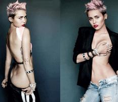 Miley se quita la ropa