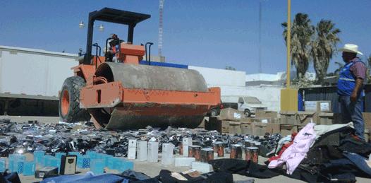 Destruye la PGR más de 71 mil  productos piratas