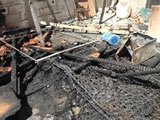 Durante la madrugada del martes se registró el incendio de dos viviendas ubicadas dentro del predio La Ballena