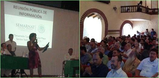 """Presenta Playa Santos un proyecto """"modificado"""" durante reunión informativa"""