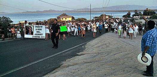 Con marcha exigen claridad en la investigación de la muerte de Erika