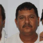 Juan Manuel Estrada Naranjo, Luis Ángel Carranza Beltrán y Pedro Bernal Deras.