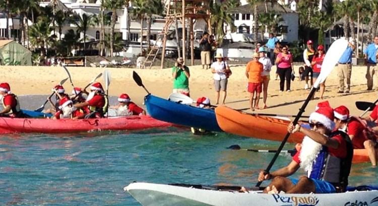 Cambiaron el trineo por kayaks