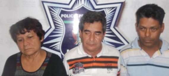 Rosa María Martínez, Ricardo Talamantes y Rubén Castro.