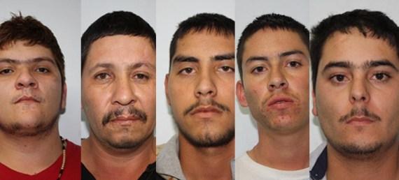 Cruz Alfonso Lozoya Uriarte, Germán Reyes Ibarra, Eladio Quintero, José Ángel González Portillo, y José Alberto Castro Barrera y Manjarrez.
