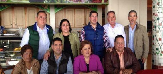Diputados locales con la alcaldesa de La Paz