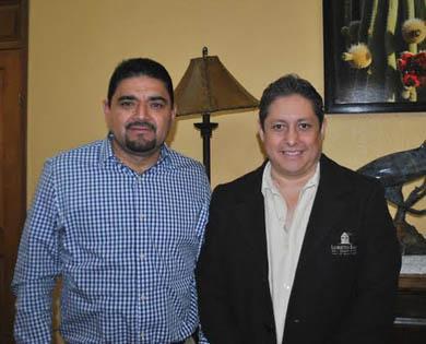 Recibe el alcalde al nuevo presidente de los hoteleros
