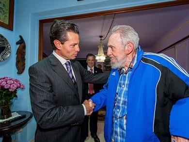 Se reúnen Peña Nieto y Fidel