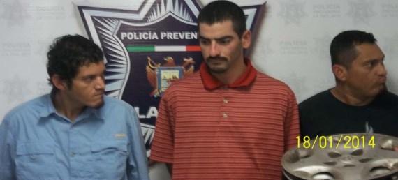 Raúl Alberto Valdez Félix,  Arturo Méndez González y Jesús Eduardo Méndez González.