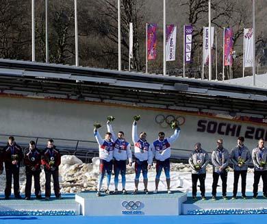 Rusia, primer lugar en el medallero de Sochi