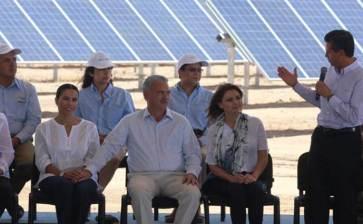 Inaugura el Presidente planta de energía solar en La Paz
