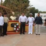 El acto cívico fue encabezado por el Presidente Municipal Guillermo Santillán Meza