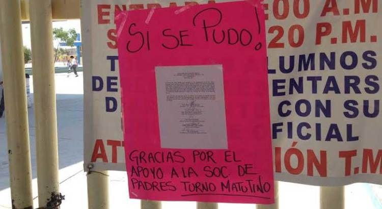 Vuelve la calma a la Primaria Francisco Payén
