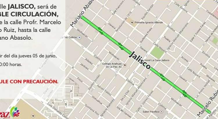 Funcionará la Jalisco en doble sentido