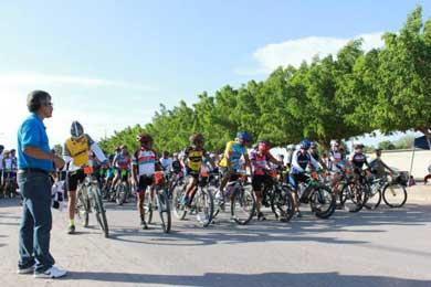 Exitosa carrera ciclista
