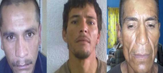 Saúl González Avila, Emmanuel Muñoz Davis y José Manuel Martínez Nava.