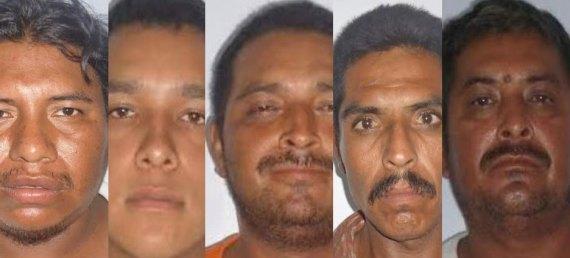 Antonio Tlapechco Nieto, Luis Enrique Langarita Meza, Tomás Aguirre Albarán, Eleodoro Zavala Galaviz y Dionisio Aguirre Albarrán.