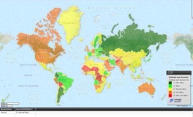 El mapa mundi de la belleza femenina