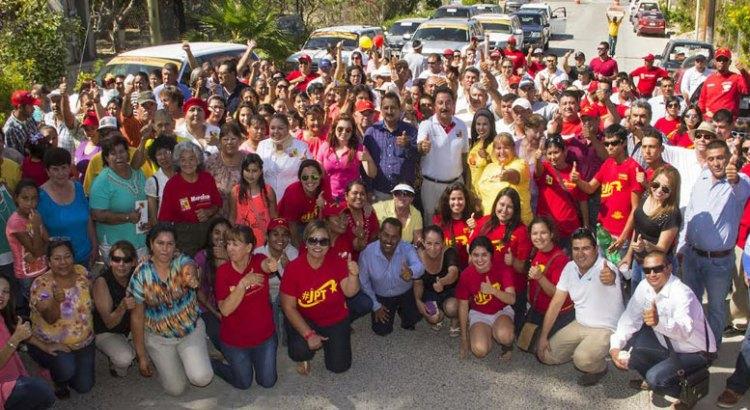 Respaldan en La Ribera a candidatos del PRD-PT-MC