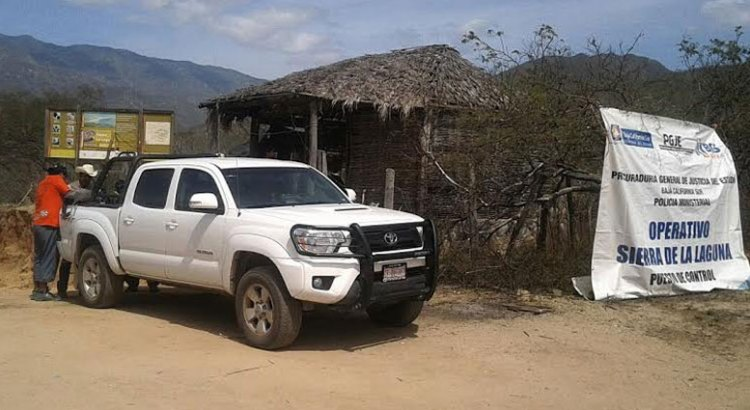 Implementa la PGJE operativo de Seguridad en la Sierra de la Laguna