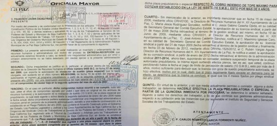 baja de Francisco Javier Osuna Frías.