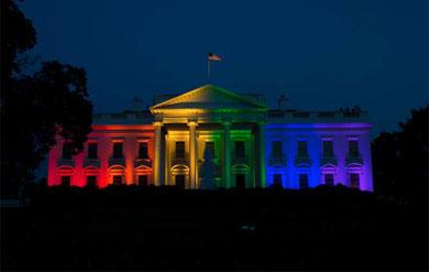 La Casa Blanca es multicolor
