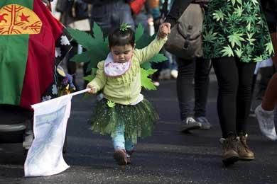 Marchan en Chile a favor de la mariguana