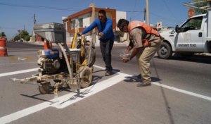 señalamiento de las calles Serdán entre Jalisco y Oaxaca