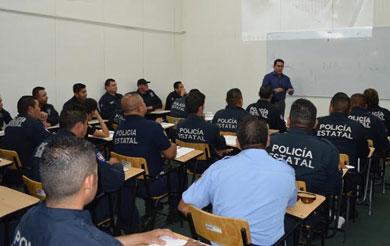 Capacita SSP a 120 agentes de la Policía Estatal Acreditable