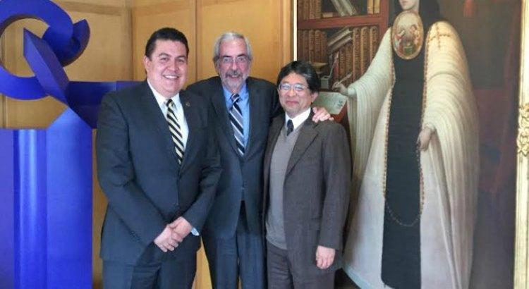 Se reúnen rectores de la UABCS y de la UNAM