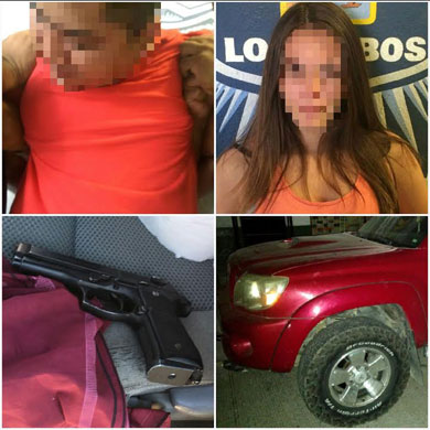 Detienen a pareja armada en Playa Palmilla