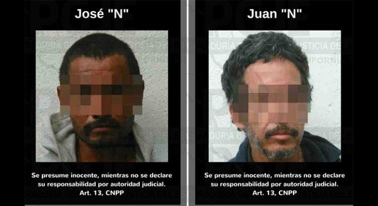 Dos detenidos y droga asegurada en cateo a vivienda