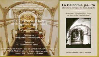 "Presentarán ""La California Jesuita"""