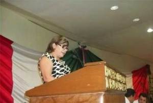 Presidenta de la Mesa Directiva de la Diputación Permanente, Norma Alicia Peña Rodríguez